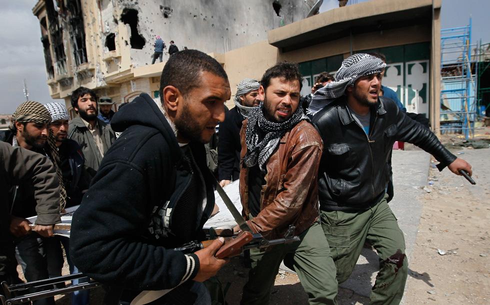 Foto di Chris Hondros a Misurata.
