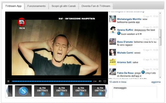 TVdream-App-su-Facebook