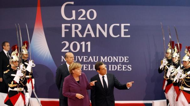 G20 Cannes -Sarkozy e Merkel