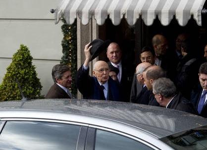 Giorgio Napolitano al Gambrinus