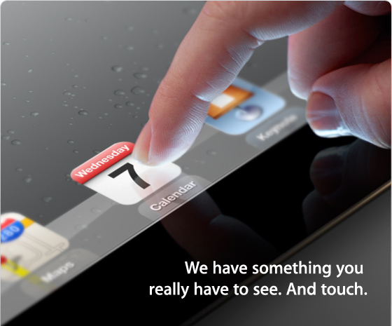 Apple iPad event invite