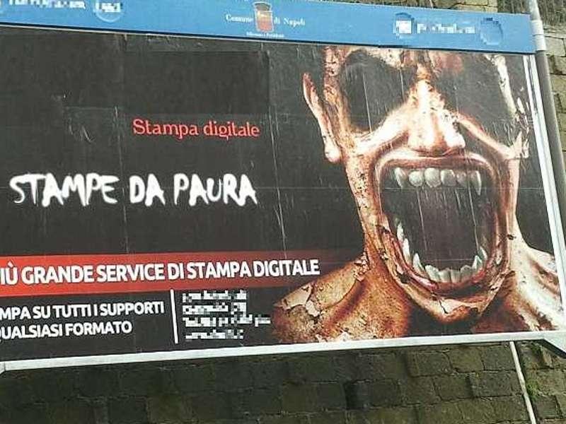 Pubblicit paura_Napoli