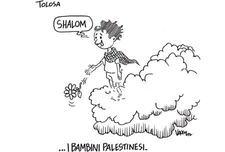 vignetta vauro bambini ebrei